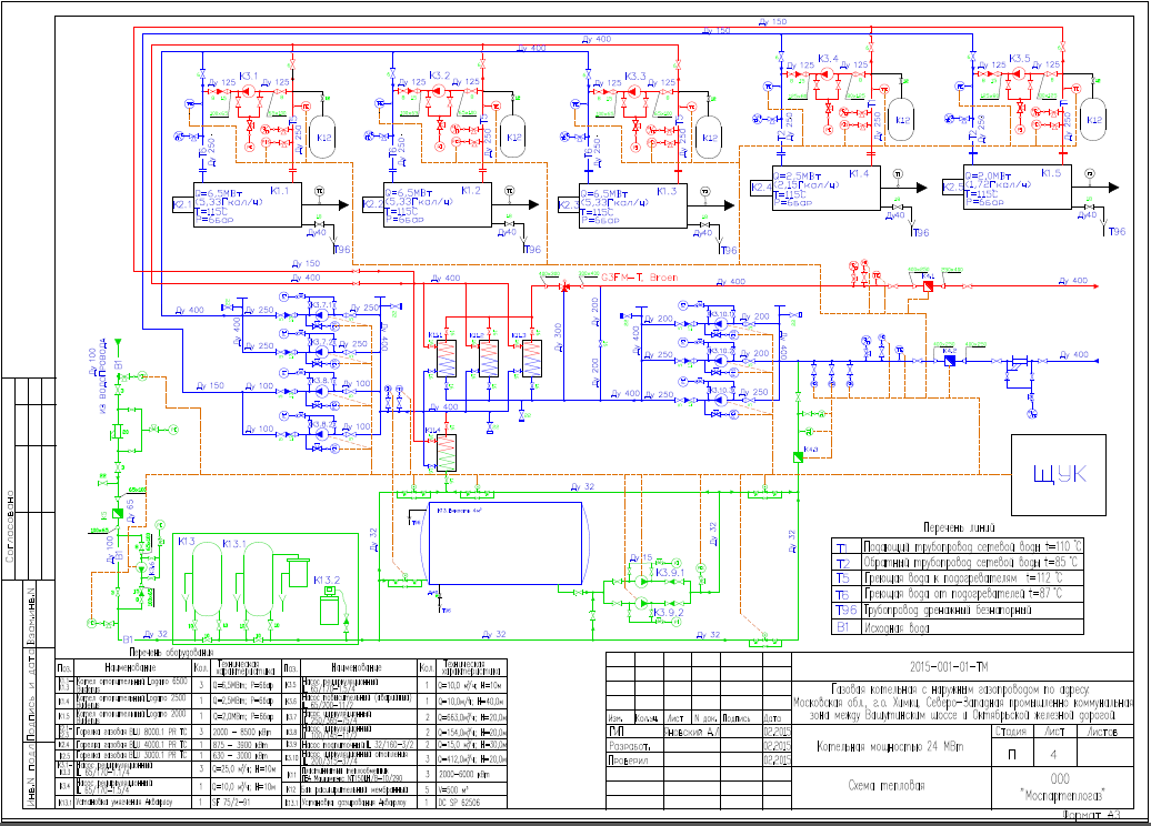 схема блочно-модульной котельной